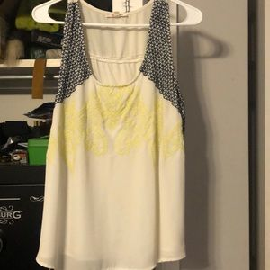 Beautiful boutique layered tank with embroidery